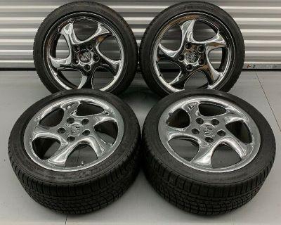 "OEM 18"" Porsche 993 911 Turbo Twist Wheels Michelin Pilot Sport A/S 3 Tires"