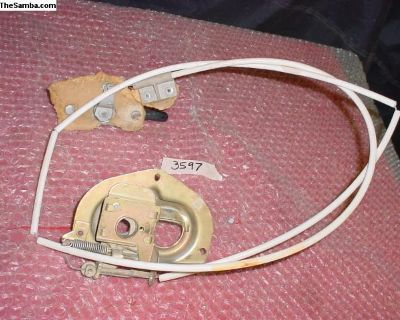 Hood Release Cable, Knob & Bonnet 143823509a