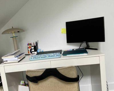 Cb2 Brand New white Desk with Storage