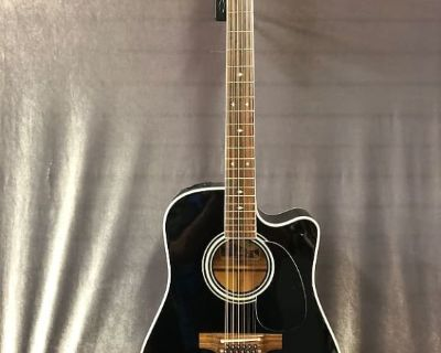 Takamine EF381SC Dreadnought Acoustic Electric Guitar with Hard Case