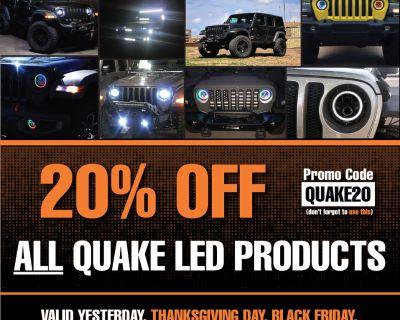 QUAKE LED Black Friday Discount Code