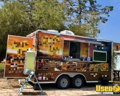 2018 8.5' x 16' Rock Solid Cargo Food Concession Trailer / Mobile Kitchen