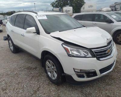 Salvage White 2014 Chevrolet Traverse