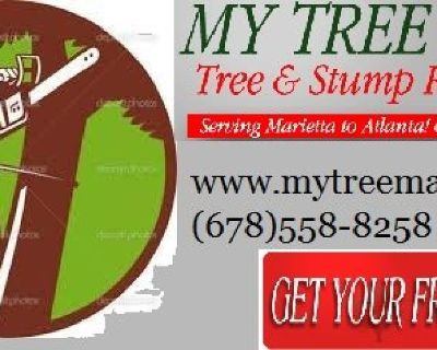🍒 Tree Cut & Stump Removal Service's (678)558-8258 www.mytreeman.com
