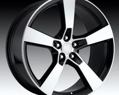 22'' Inch Chevy Camaro Ss Replica Machine Black Wheels Tires 22x9 & 22x10 Rims