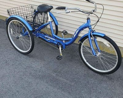 "Schwinn Adult Tricycle/Blue 26"" Wheels"
