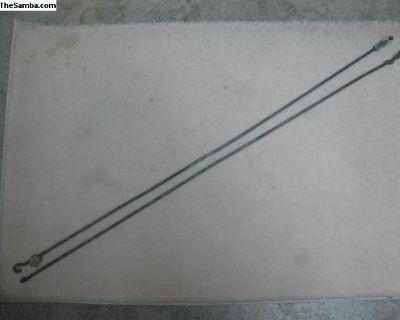 VW front door mechanism lock rods