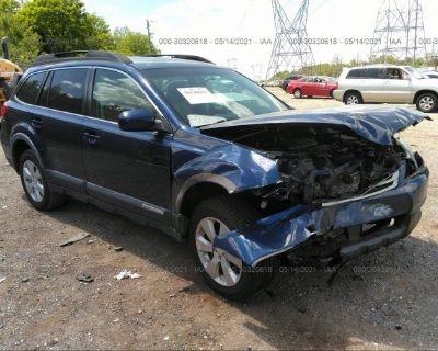 Salvage Blue 2010 Subaru Outback