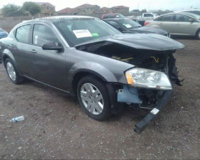 Salvage Gray 2013 Dodge Avenger
