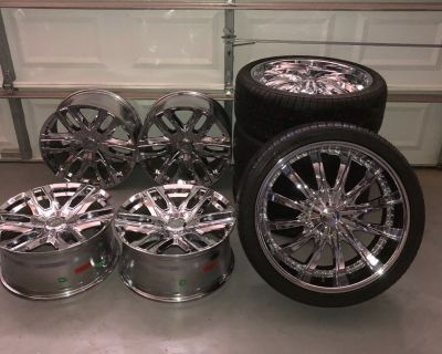 All 8 rims and set of 4 tires