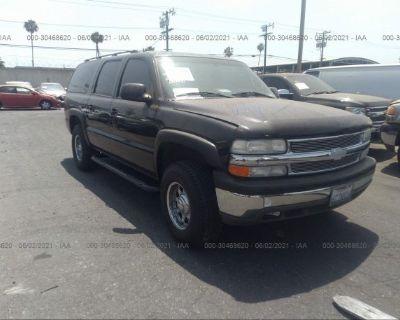 Salvage Black 2001 Chevrolet Suburban