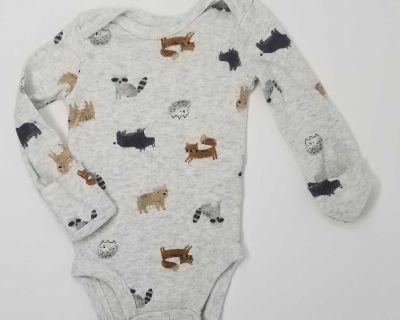 Carters nb onesie with hand covers