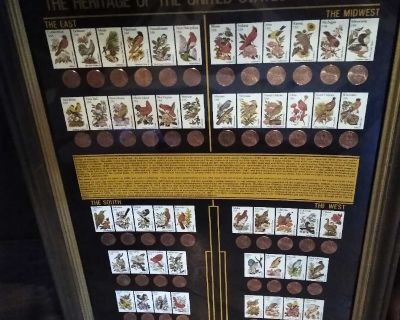 Framed state pennies and stamps