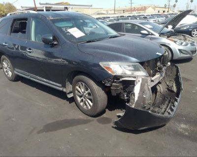 Salvage Blue 2014 Nissan Pathfinder