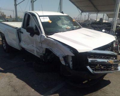 Salvage White 2018 Chevrolet Silverado 1500