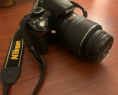 """Nikon D3100 14.2MP DSLR Camera with 18-55mm VR Lens, 3"""" LCD, HD Video with accessories"""
