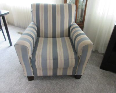 Moving Sale - Striped Chair