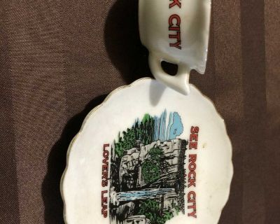 Vintage Collectible Mini Tea Coffee Cup & Saucer from Rock City
