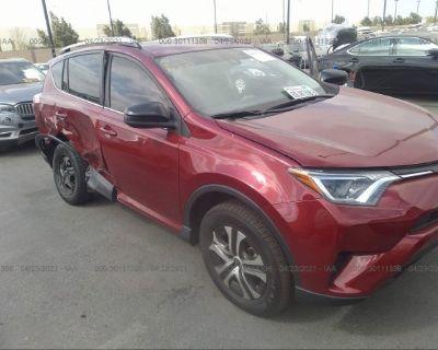 Salvage Red 2018 Toyota Rav4