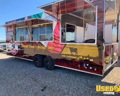 Loaded 2020 - 8' x 24' Kitchen Food Trailer with Pro-Fire and Porch