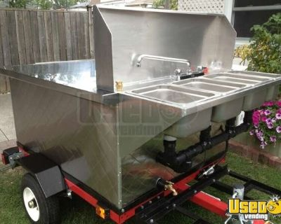 Deluxe Mobile Street Food and Hot Dog Vending Cart