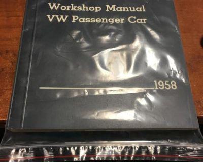 Workshop Manual Bug 1958 NOS never opened