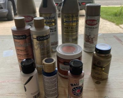 Lot of Metallic and Pink Paints