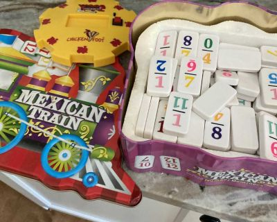 Mexican train board game. All pieces.