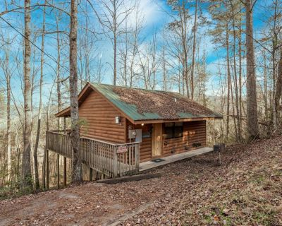 Star Struck: Hot Tub, Heart Shaped Jetted Jacuzzi, Stone Gas Log Fireplace! - Pigeon Forge