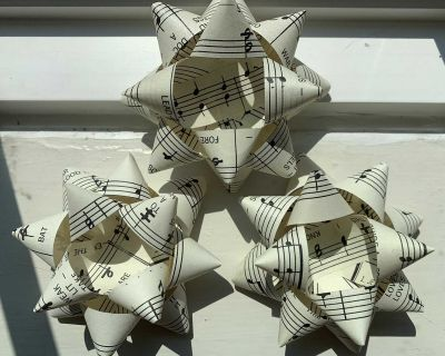 Handmade Gift Bows from Book Pages