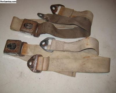 pair of old seat belts