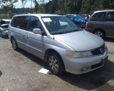 Salvage Silver 2002 Honda Odyssey