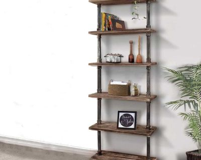 Custom Built Industrial Shelves and Bookcases