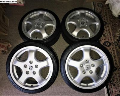 Brand New Porsche Cup 1 Reps 17x7.5 With Tires
