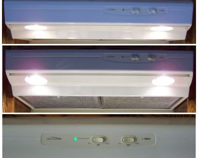 """Very Clean - NuTone Allure Bisque/Almond Color 30"""" Convertible Under-Cabinet Range Hood with Lights and Fan"""
