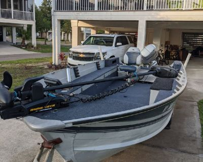 16' Aluminum fishing boat with a 30hp 4-stroke