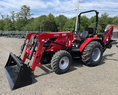 2020 TYM Tractors T394 Tractor W/ Loader, Industrial Tires, And Back
