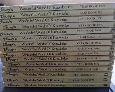 Vintage Disney Wonderful World Of Knowledge Year Books 1978-1992