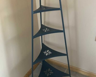 Longaberger wrought iron shelving unit. Measures 40 H x 21 W at the widest point