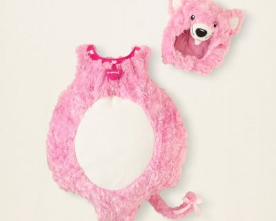 New Childrens Place Girls Pink Kitty Cat Deluxe Plush Costume 12 18 Months Baby