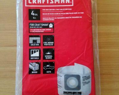 Craftsman 4 Gallon Shop Vac Bag (1) **NEW**