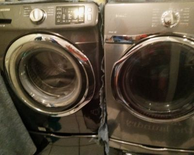 Front loading wash machine and dryer