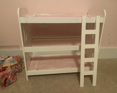 Babydoll bunk bed with ladder