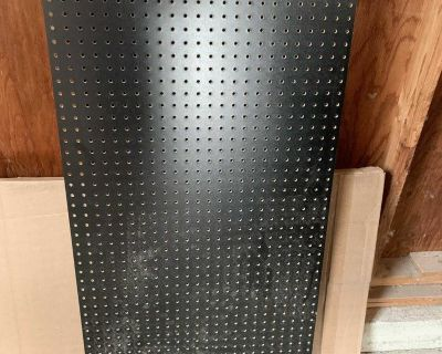 New large black pegboard - can cut down to make 2 etc