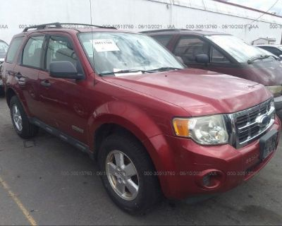 Salvage Red 2008 Ford Escape