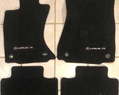 14 15 16 lexus is is250 is350 black oem genuine factory floor mat carpet set