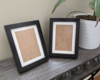 """Set of 2 5"""" x 7"""" Black Wood Picture Frames for pick up in Cooper's Crossing Airdrie"""