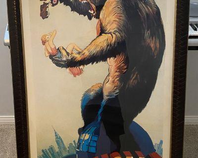 Framed Vintage King Kong Poster