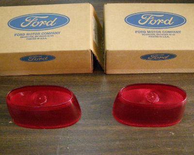 Nos 1958 Ford Fairlane 500 Tail Light Lenses