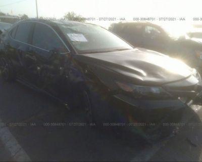 Salvage Black 2021 Toyota Camry